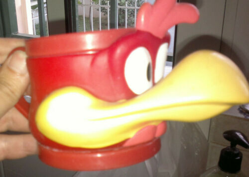 Looney Tunes Foghorn Leghorn plastic mug from Evga Greek icecream company