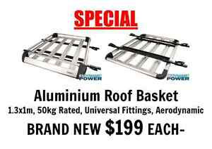 Aluminium Roof Basket 1.3x1M 50Kg Rated Universal Fit Aero Design Port Adelaide Port Adelaide Area Preview