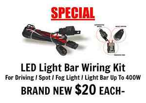 LED Light Bar Wiring Kit For Driving/Spot/Fog/Light Bar Upto 400W Port Adelaide Port Adelaide Area Preview