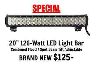 "20"" 126W LED Light Bar Combined Flood / Spot Beam Tilt Adjustable Port Adelaide Port Adelaide Area Preview"
