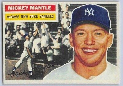 1956  Mickey Mantle   Topps  Reprint  Baseball Card   135   New York Yankees