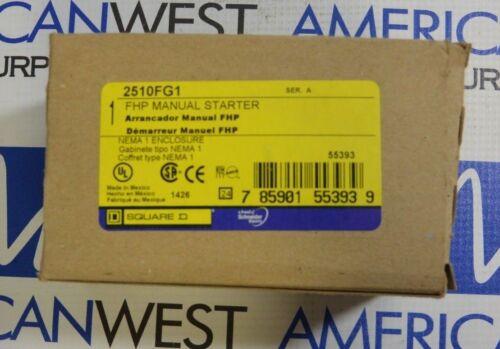 16 Amp Square D 2510FG1 Manual Starter NEW!