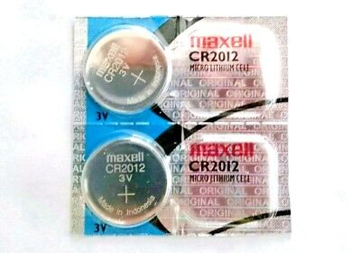 2 Maxell CR2012 Lithium Batteries CR2012 2012 3V