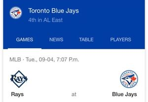 BLUEJAYS TICKETS FOR SALE NOW ROW 27