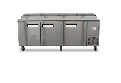 Pizza Prep Table 93 Unit 8 Make Line Refrigerator Prep Cooler 2 Door 96