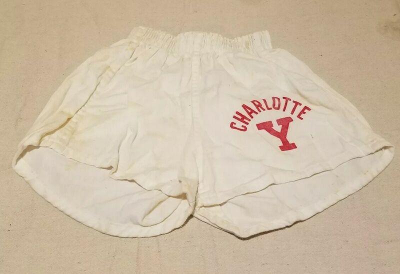 Vintage 1950s Champion Running Man Charlotte YMCA Shorts Kids