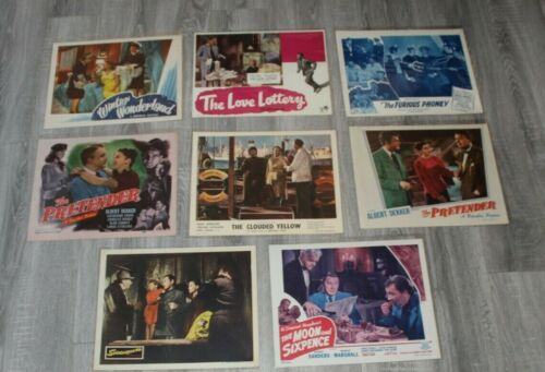 """8 vintage Lobby CARD Movie  posters for Theaters, 14"""" x 11"""" 1950"""