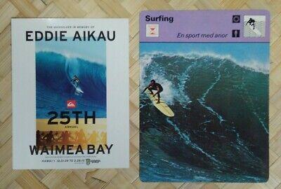 """1968 EDDIE AIKAU /& STEVE GAINES HALEIWA NORTH OAHU PHOTOGRAPH ON 8X10/"""" MATT"""