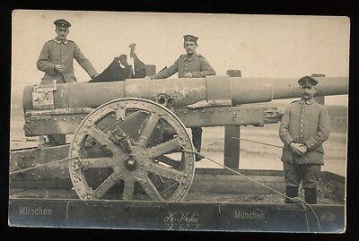 Foto AK - Soldaten mit Geschütz - 1.WK - gute Aufnahme -