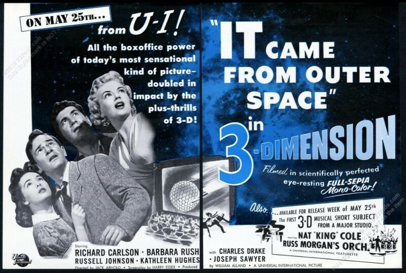 1953 It Came From Outer Space movie release scarce vintage trade print ad