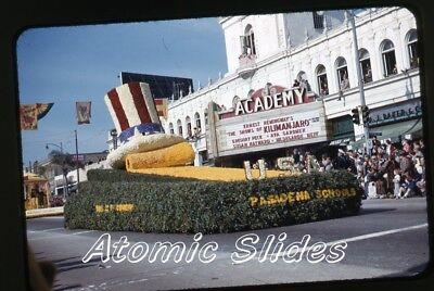 1953  kodachrome Photo slide Academy movie Theatre Pasadena CA rose parade
