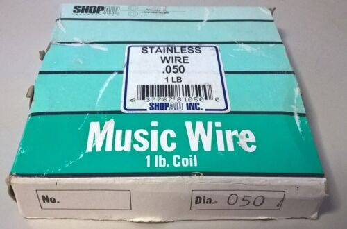 .050 SHOPAID  STAINLESS MUSIC WIRE 1 LB.
