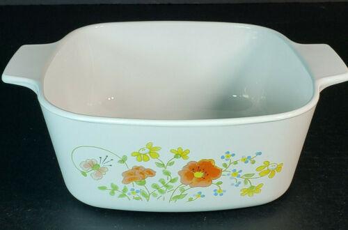 Vintage Corning Ware Wildflower Casserole Dish A-1 1/2-B 1.5 Liter