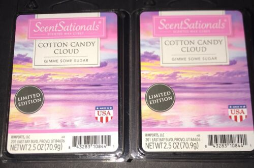 SCENTSATIONALS Scented Wax Cubes COTTON CANDY CLOUD / 2 Pack