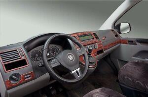 Cockpitdekor für VW T5 ab 2010 und VW T6 ab 2015 Wurzelholzdesign 38 tlg.