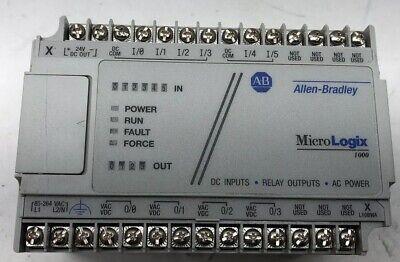 Allen Bradley 1761-l10bwa F Micrologix 1000 120240vac 6 Dc Inputs 4 Relay Outs