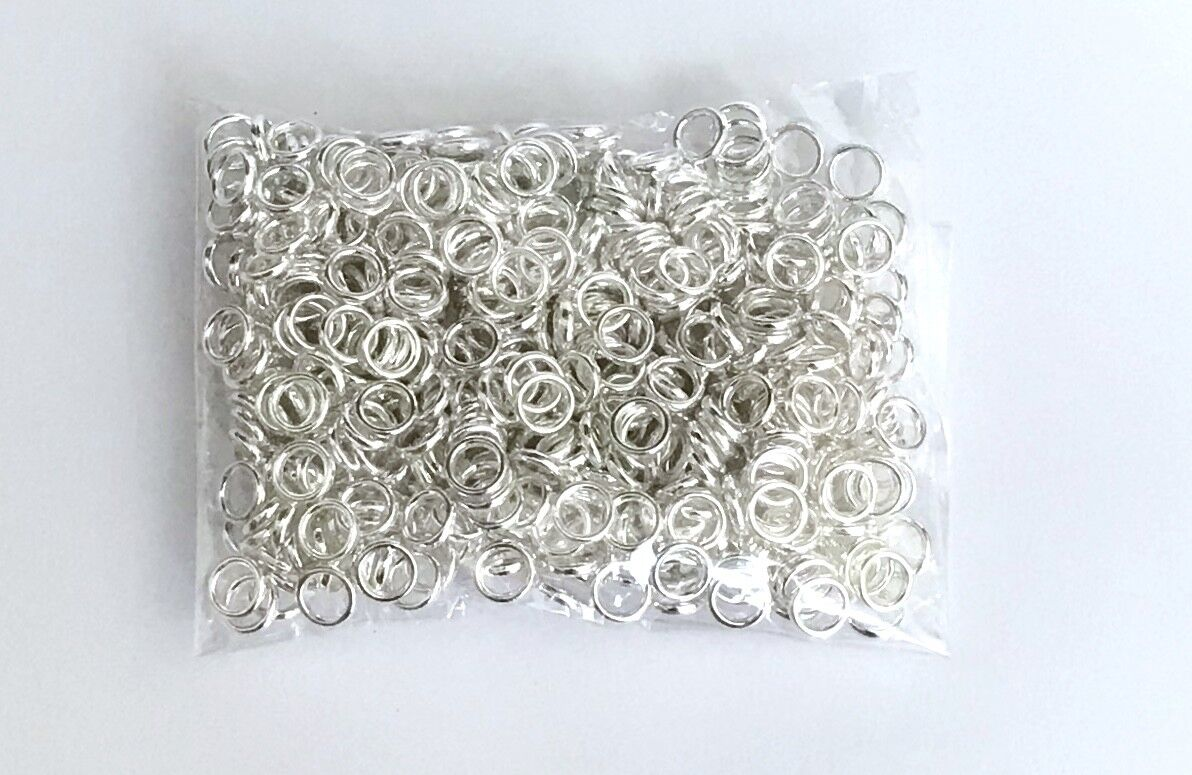 925 Sterling Silver 6mm Closed Twisted Jump Rings 25 pcs  #5504-6