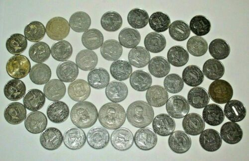 PHILIPPINES COINS LOT! MOSTLY 1 & 5 PISO COINS! 57 COINS! Pilipinas (#999)