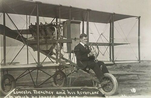 ORIGINAL - LINCOLN BEACHEY PHOTOGRAPH (IN WHICH HE LOOPED THE LOOP) c1913
