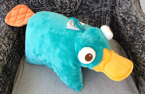 Disney Park Phineas and Ferb Perry the Platypus Pillow Pal Plush Pet Doll NEW