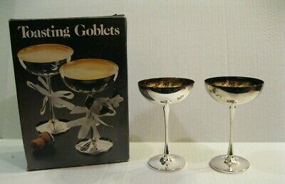 Leonard Silver - silver-plated toasting goblets