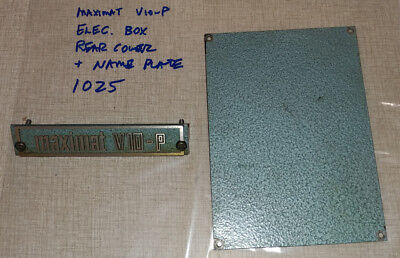 Emco Maximat V10-p Rear Electrical Box Cover Nameplate 1025