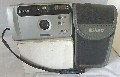Nikon AF230 29mm lens 35mm Camera w/Date Back +Original Nikon Case ~TESTED