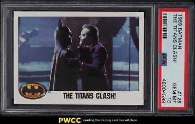 1989 Topps Batman The Titans Clash 126 PSA 10 GEM MINT - $42.11