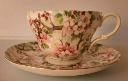 """Vintage Shelley """"Maytime""""  Cup And Saucer"""