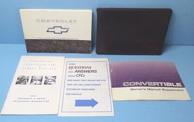 94 1994 Chevrolet Cavalier owners manual with Convertible Top Chevrolet Cavalier Owners Manual