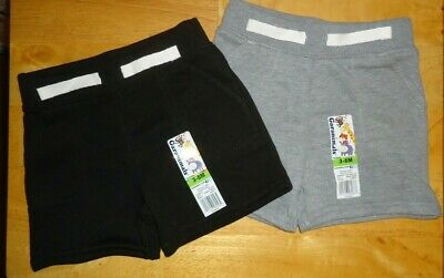 Lot of 2 Garanimals Baby Boys French Terry Shorts Size 3-6 Months Black & (Baby French Terry Short)