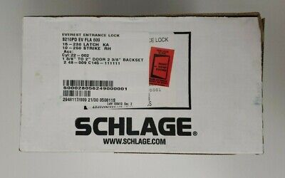 New Schlage S210pd Ev Fla 609 Everest Single Locking Interconnected Lever Lock