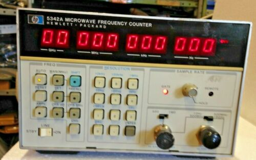 T177742 HP 5342A Microwave Frequency Counter w/ Options 001, 003, 011  *JI34
