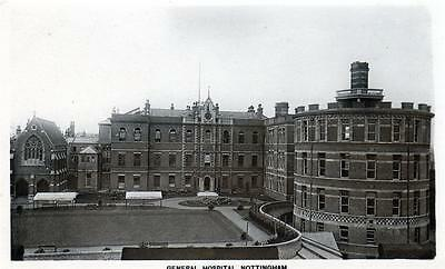 Nottingham General Hospital unused sepia RP old postcard Peveril