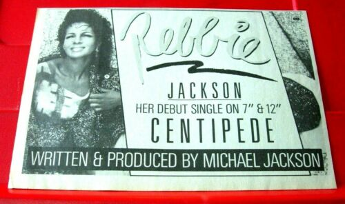 "Rebbie Jackson Centipede Vintage ORIG 1984 Press/Ma ADVERT 8.5""x 5.5"" Michael"