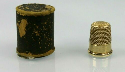 Antique / Vintage 14K Yellow Gold Sewing Thimble 4.3g Size 6