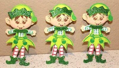 ELF CHRISTMAS  BIRTHDAY PARTY SUPPLY OR DECORATION FOAM FIGURES 10 PACK new - Elf Birthday