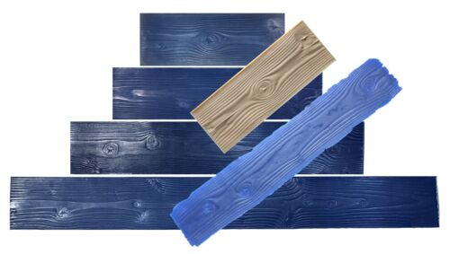 """6 pc Set 9"""" Wide Wood Plank Concrete Stamp. Wood texture Stamp Mat SM 5000/S-6"""