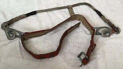 Vintage Klein Tools 5442 Medium Lineman Climbing Safety Belt Rope