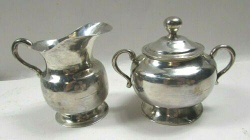 Antique Mexico J.V.P. Tane Sterling Silver Cream & Sugar Set