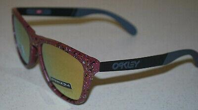 Oakley Frogskins Mix OO9428-1055 Splatter Vampirella / Prisma Rotgold Neu