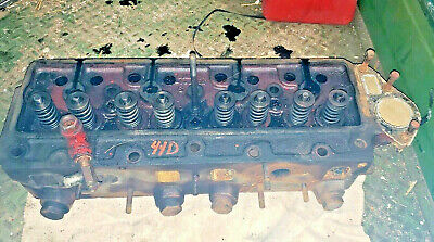 Massey Harris 44 Tractor Diesel Engine Cylinder Head 44d Continental Rare Mh