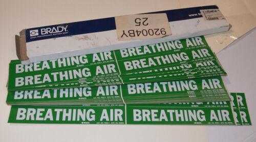 BRADY 7035-4 92004 BREATHING AIR PIPE MARKER!/LABELS! GREEN VINYL! 96 IN BOX! $$