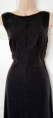 New Authentic PRADA Black Seta Lavata Dress 42 UK Sz 10