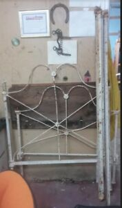 Antique Iron Bed Headboard & Foot board & Rails.