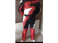 Motorbike race suit red black white XL LARGE