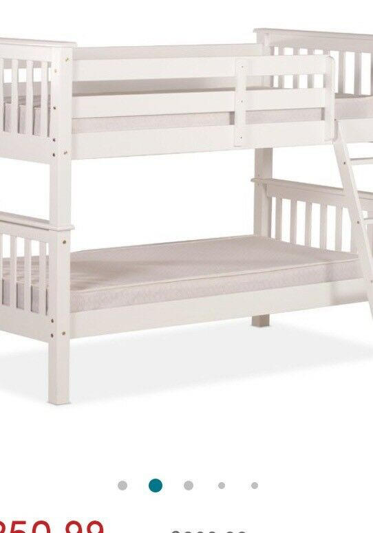 White Solid Wood Bunk Beds In West End Glasgow Gumtree