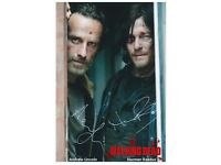 The Walking Dead - 042 - Cast Signed x 2 Norman Reedus & Andrew Lincoln