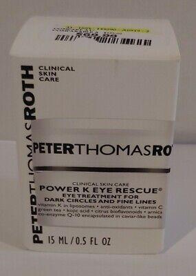 Peter Thomas Roth Power K Eye Rescue Eye Treatment .5oz New In Box