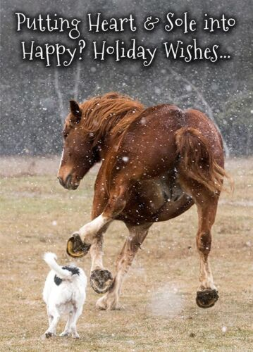 Putting Heart & Sole into Happy? Holiday Wishes.. Belgian Horse Christmas Cards